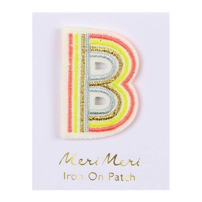 MERIMERI Alphabet patches B