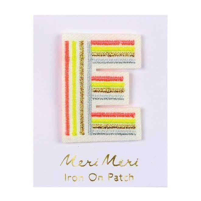 MERIMERI Alphabet patches E