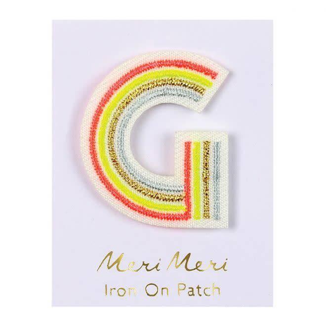 MERIMERI Alphabet patches G