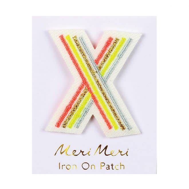 MERIMERI Alphabet patches X