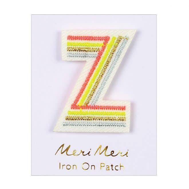 MERIMERI Alphabet patches Z
