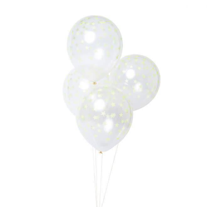 MERIMERI Neon yellow star balloons