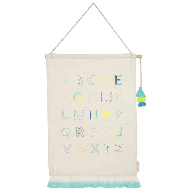 MERIMERI Boys alphabet wall hanging