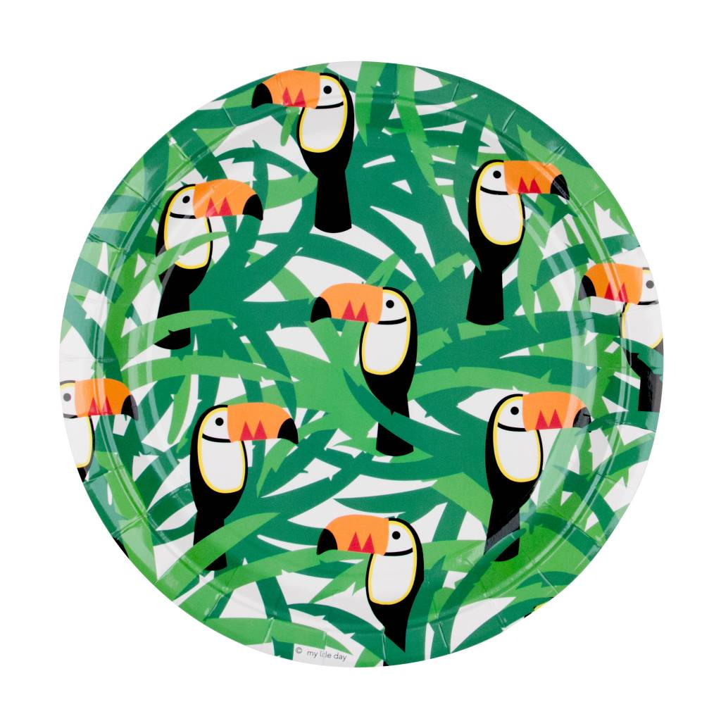 MY LITTLE DAY 8 paper plates toucan