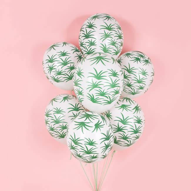 MY LITTLE DAY 5 green leaves balloons