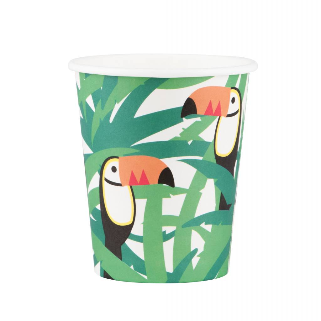 MY LITTLE DAY 8 paper cups toucan