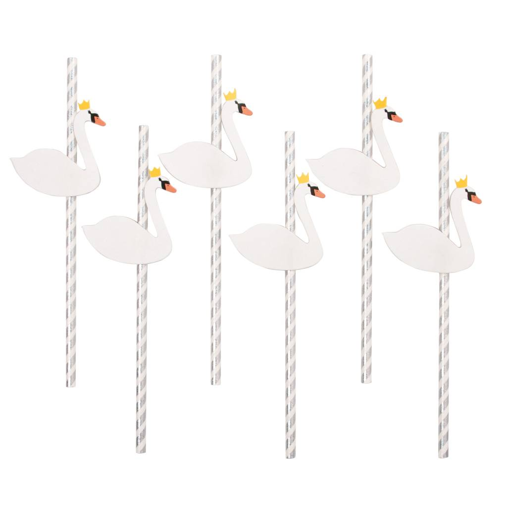 MY LITTLE DAY 12 paper straws swans