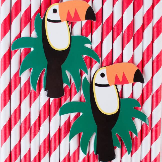 MY LITTLE DAY 12 paper straws toucan