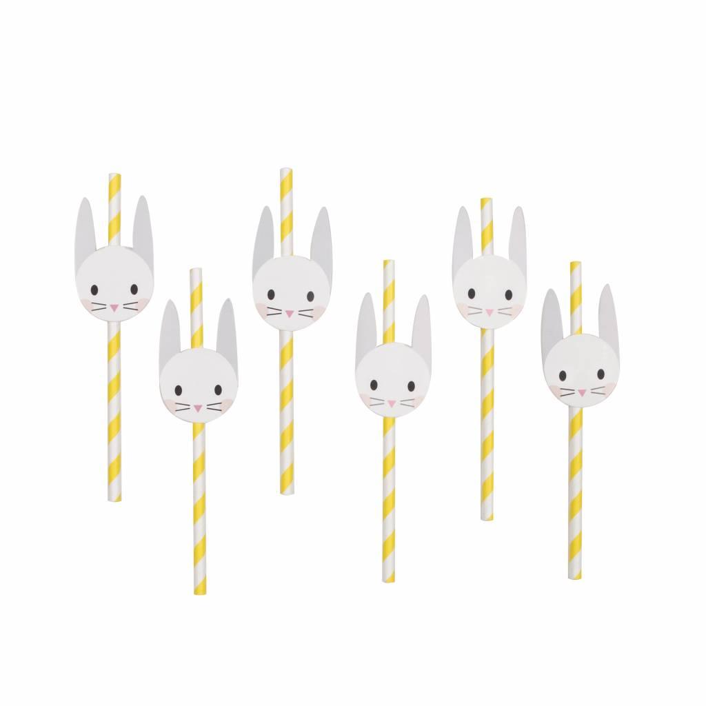 MY LITTLE DAY 12 paper straws mini bunny