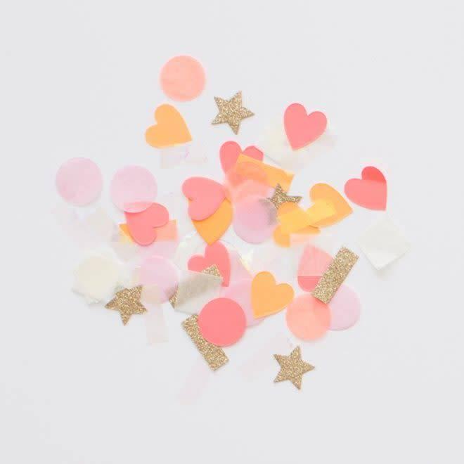 MERIMERI Pink heart confetti