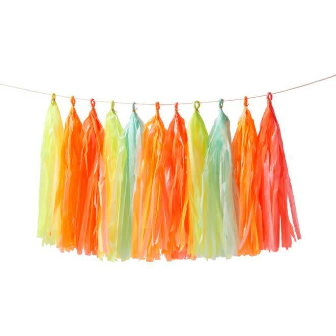 MERIMERI Neon tassel garland