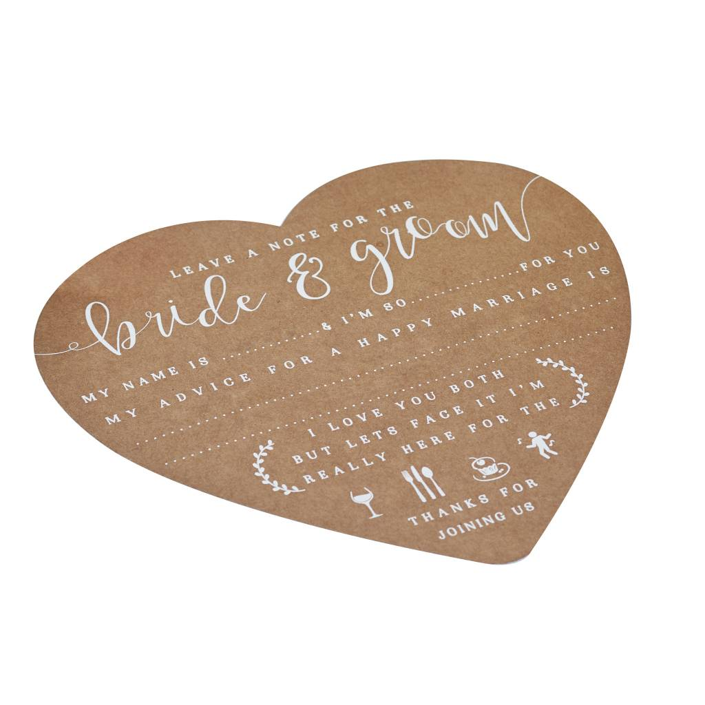 GINGERRAY ADVICE FOR THE BRIDE AND GROOM CARDS - RUSTIC COUNTRY