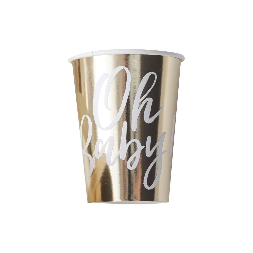 GINGERRAY GOLD FOILED OH BABY! PAPER CUPS - OH BABY!