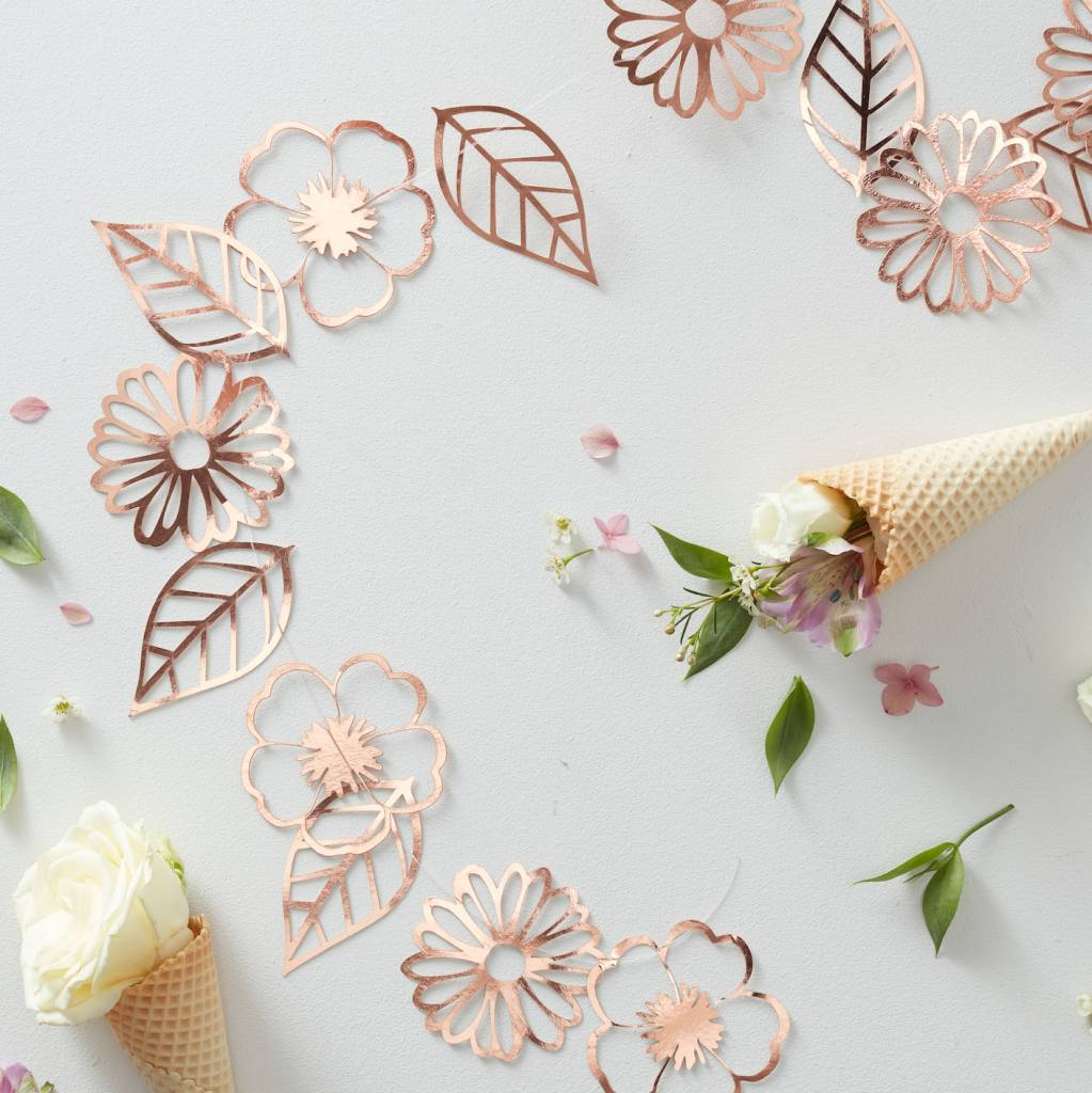 GINGERRAY ROSE GOLD FOILED FLOWER GARLAND - DITSY FLORAL