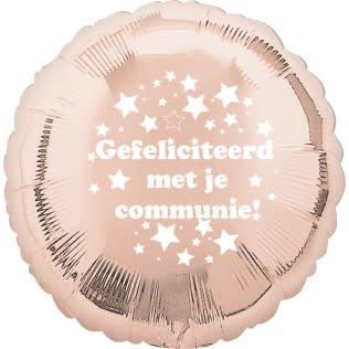 SMP foil balloon 'communie' rose gold 45 cm