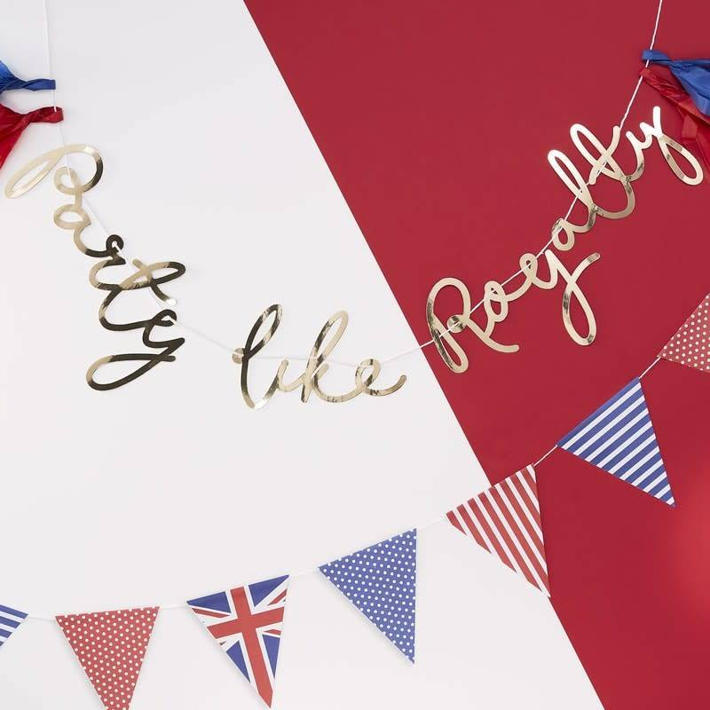 GINGERRAY GOLD PARTY LIKE ROYALTY BUNTING - PARTY LIKE ROYALTY
