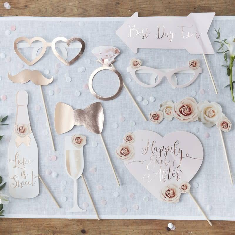 GINGERRAY Wedding Photo Booth Props - Beautiful Botanics