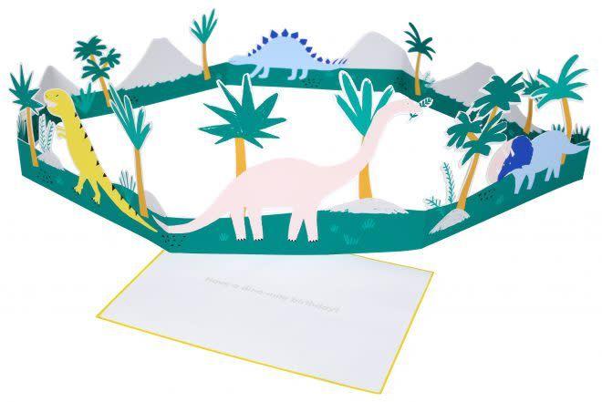MERIMERI dinosaur scene card