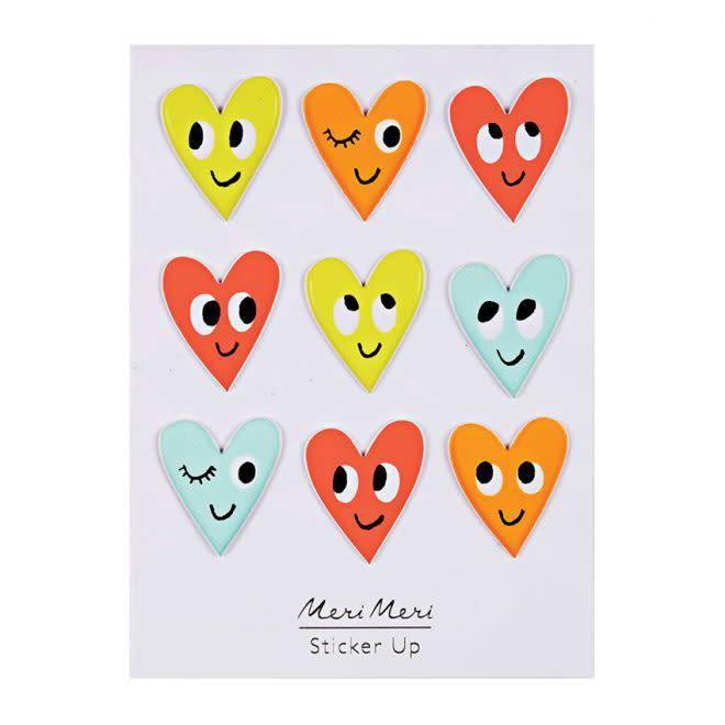 MERIMERI Heart puffy stickers