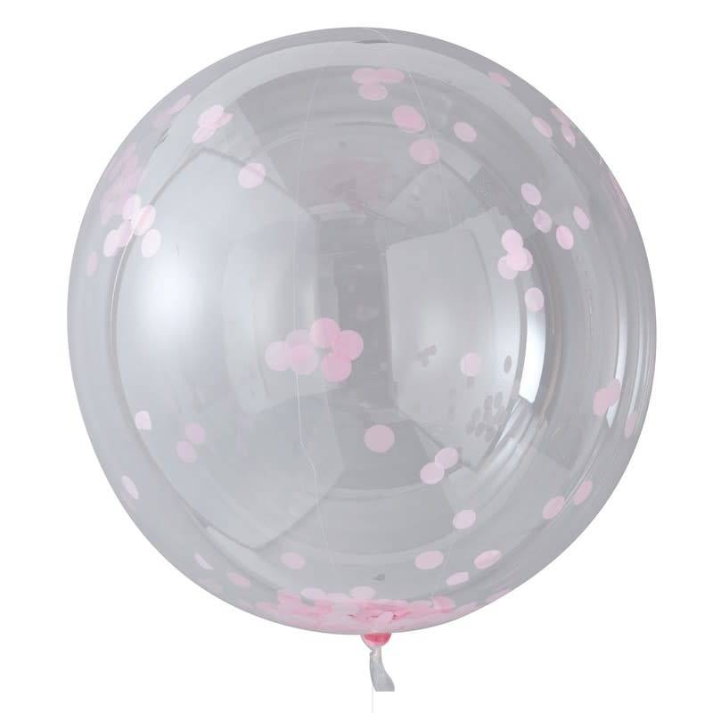 GINGERRAY LARGE PINK CONFETTI ORB BALLOONS - PICK & MIX