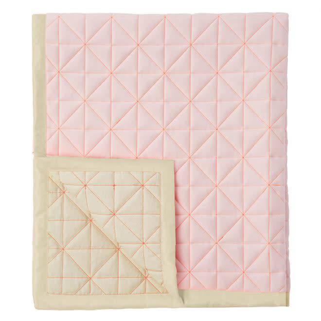 MERIMERI Pink quilted baby playmat