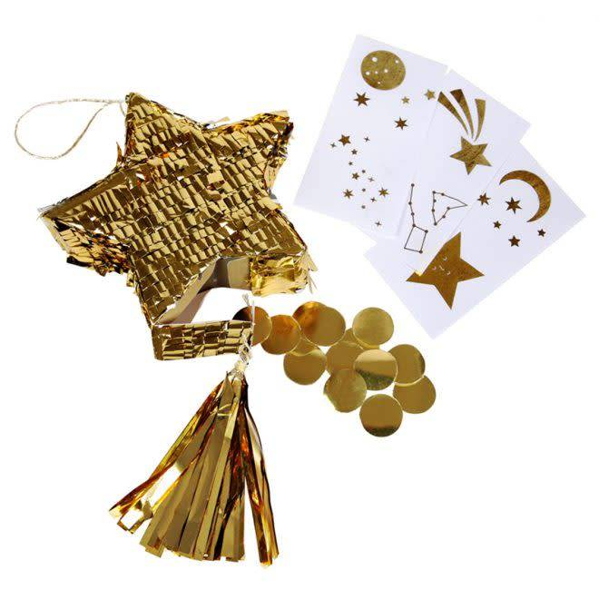 MERIMERI Gold star piñata favors