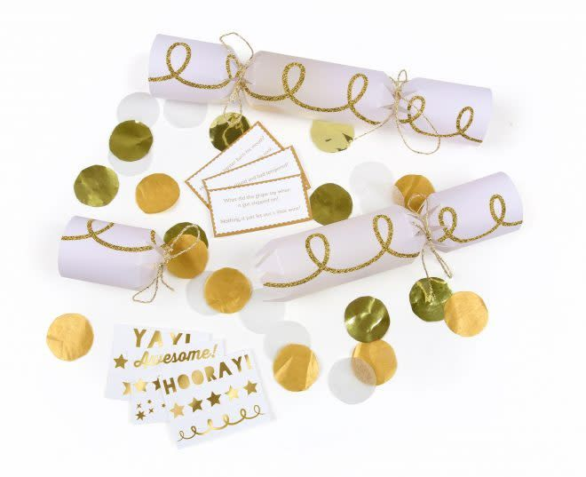 MERIMERI Gold confetti crackers