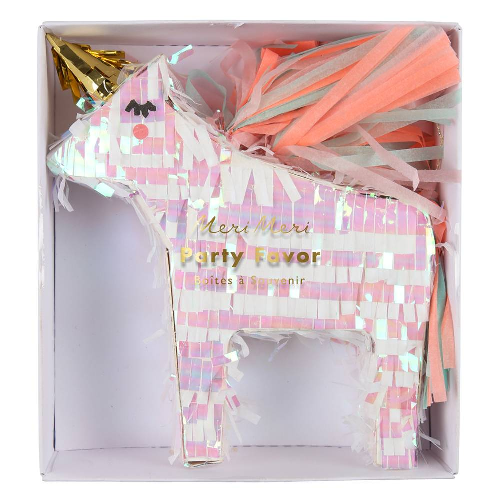 MERIMERI Unicorn piñata favor