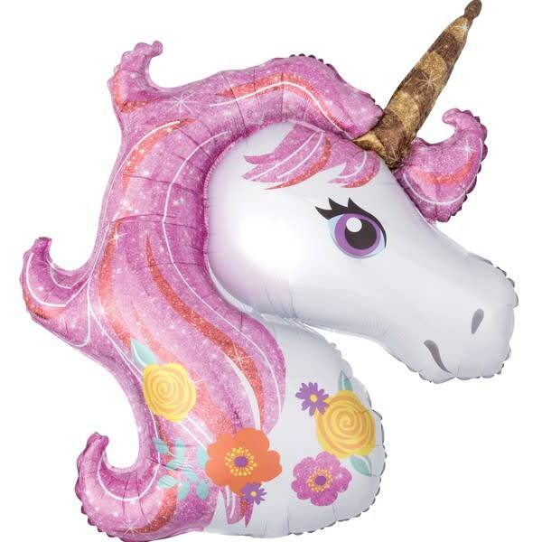 SMP pastel unicorn head foil balloon 83 cm