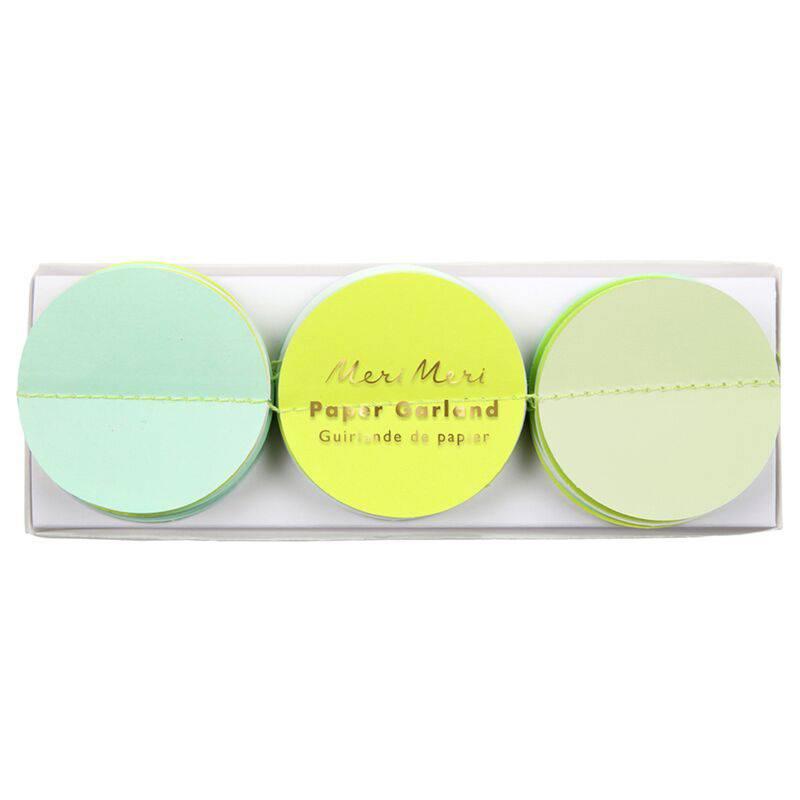 MERIMERI Mint paper circle garland