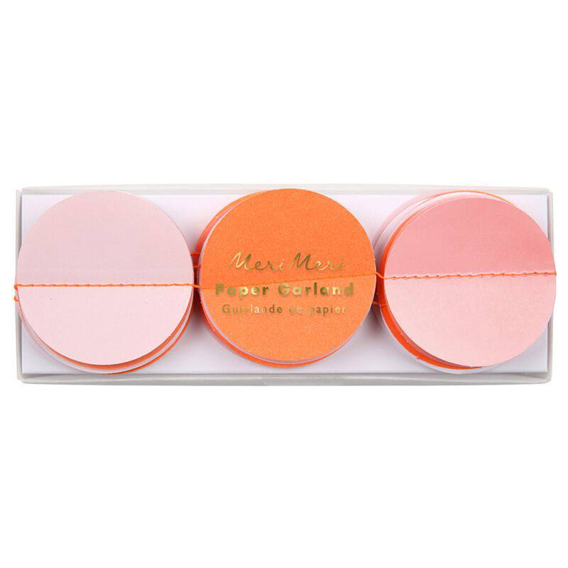 MERIMERI Pink paper circle garland