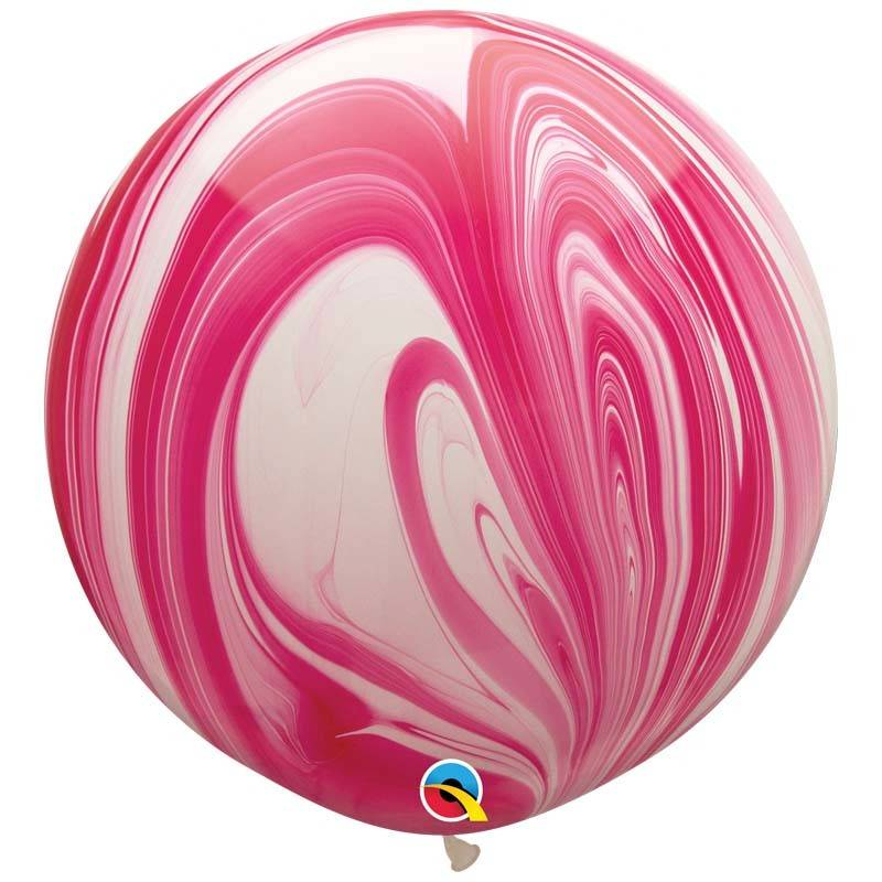 SMP giant marble balloon pink white 80 cm