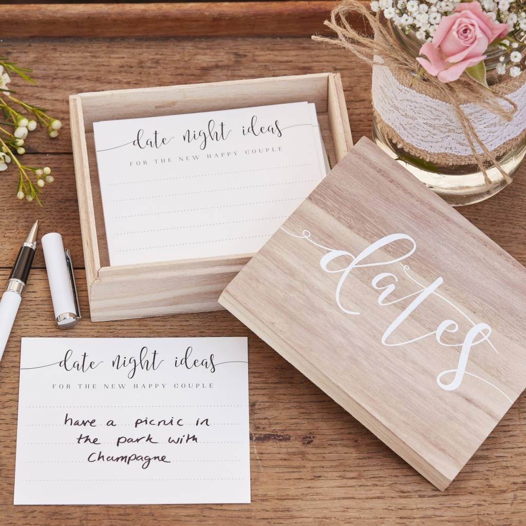 GINGERRAY WOODEN DATE SUGGESTION BOX - RUSTIC COUNTRY