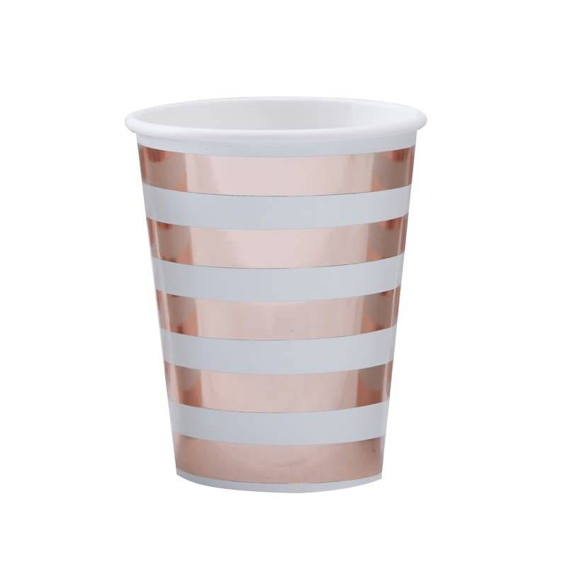 GINGERRAY MINT & ROSE GOLD PAPER CUPS - HELLO WORLD