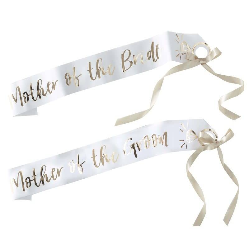 GINGERRAY MOTHER OF THE BRIDE AND GROOM SASH- I DO CREW