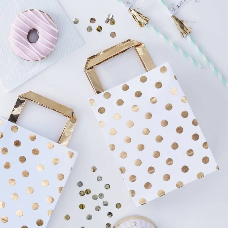 GINGERRAY GOLD FOILED POLKA DOT PARTY BAGS - PICK & MIX
