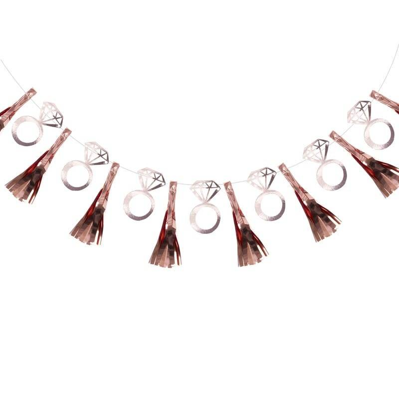 GINGERRAY ROSE GOLD FOILED RING TASSEL GARLAND - TEAM BRIDE