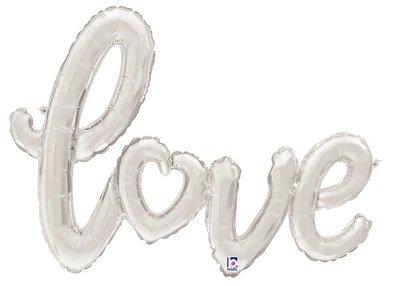 SMP love script heart silver 119 cm