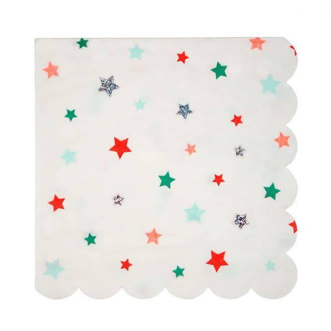 MERIMERI Stars napkins L