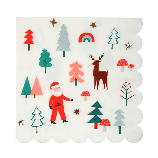 MERIMERI Christmas icon napkins L