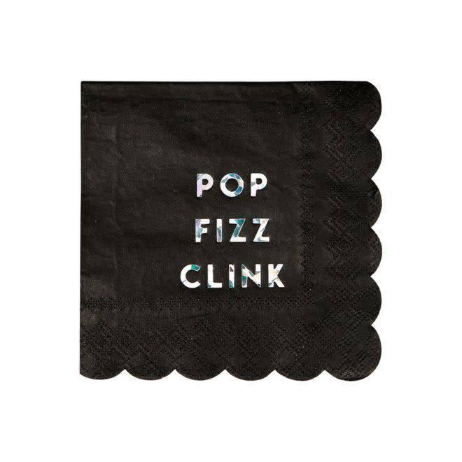 MERIMERI Black holographic napkins S