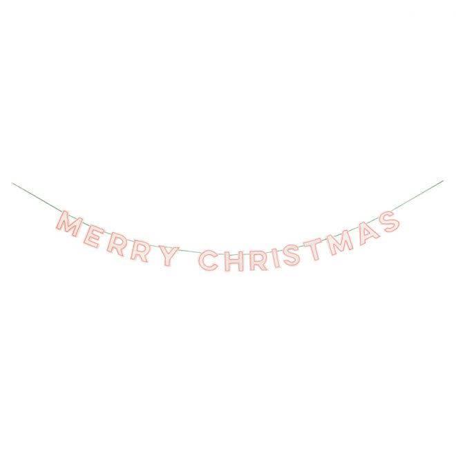 MERIMERI Felt Merry Christmas garland