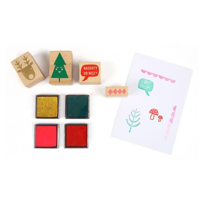MERIMERI Festive stamp set