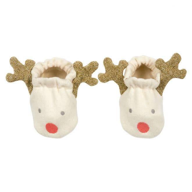MERIMERI Reindeer baby booties (0-6 months)