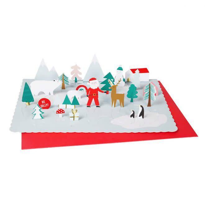 MERIMERI Pop-up Santa advent calendar