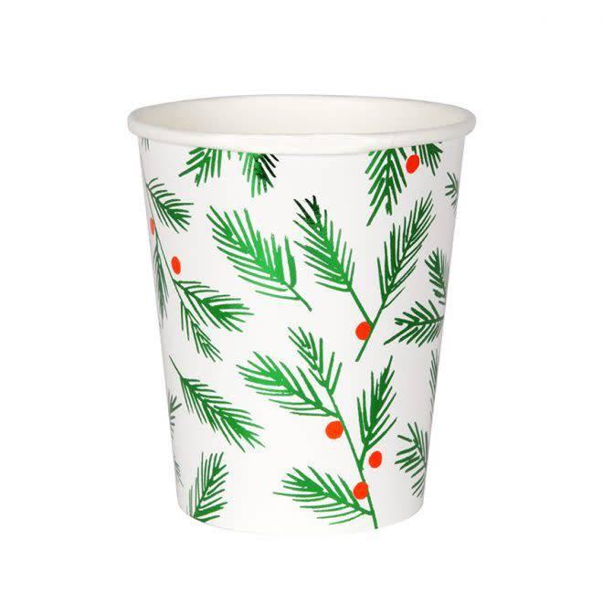 MERIMERI Festive leaves & berries cups