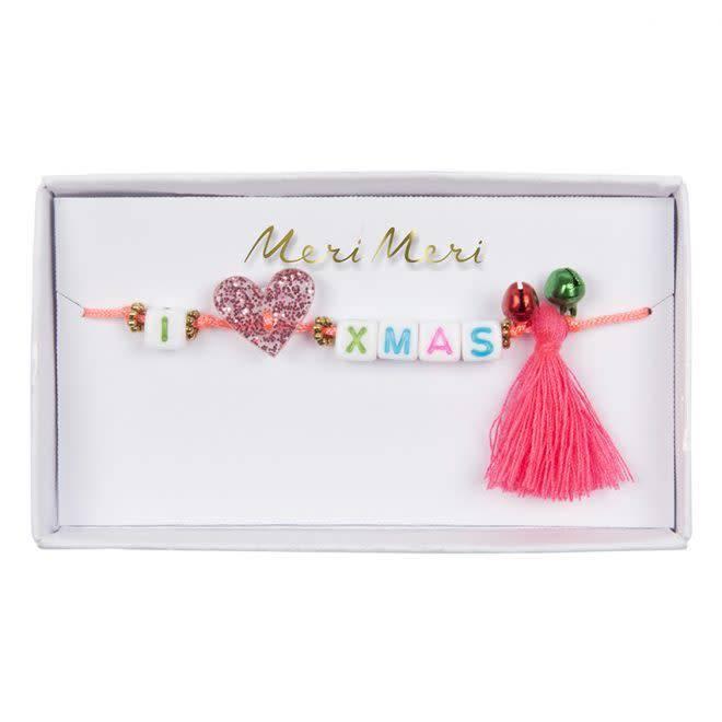 "MERIMERI ""I heart Xmas"" bracelet"