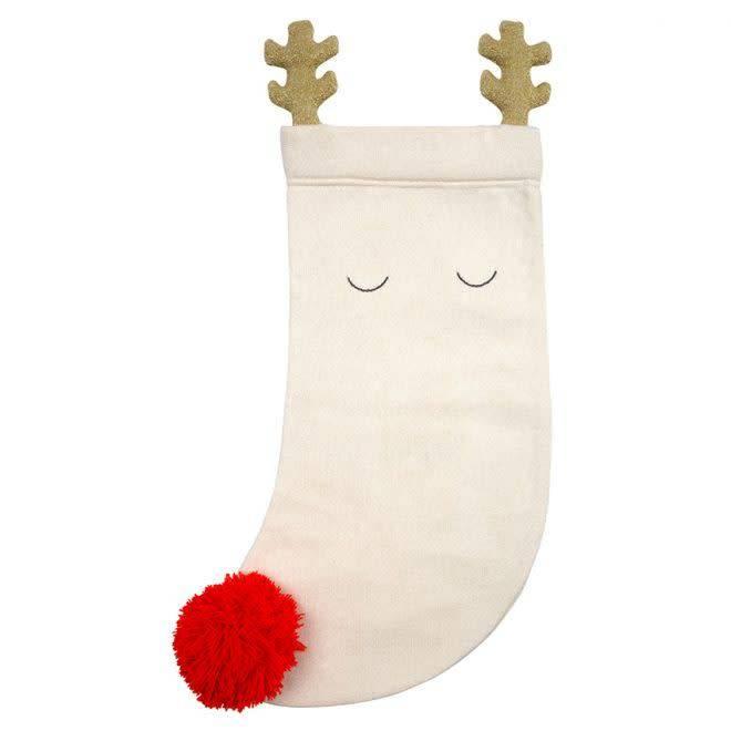 MERIMERI Knitted reindeer stocking