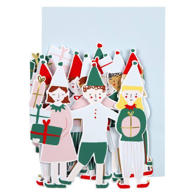 MERIMERI Christmas elf concertina card