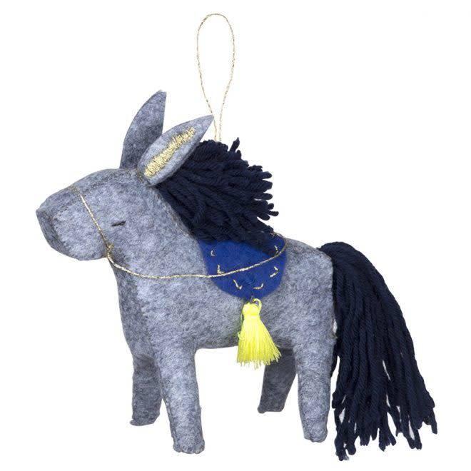MERIMERI Donkey felt hanging decoration